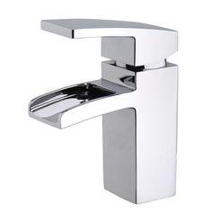 Praya Rombo waterval kraan inclusief klikwaste chroom - 29.4200 - Sanitairwinkel.nl