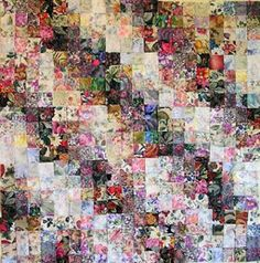 Strip Pieced Watercolor Quilt Part 1 | FaveQuilts.com