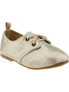 Old Navy   Metallic Oxford Shoes for Baby