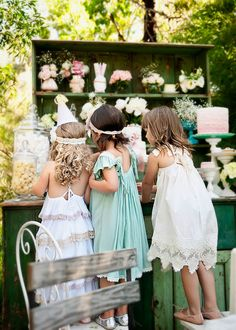 Rustic flowergirls  Dresses by Tea Princess  www.teaprincess.com.au