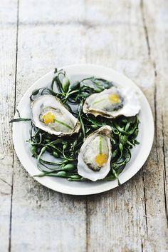 Y las populares ostras como para no desfallecer a mitad de una buena faena.