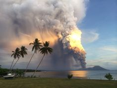 Mount Tavurvur erupts on Aug. 29 in eastern Papua New Guinea by Oliver Bluett