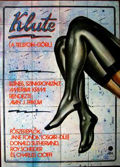 Klute (1971)  Director: Alan J. Pakula  Hungarian vintage movie poster.  Artist by: Andor András