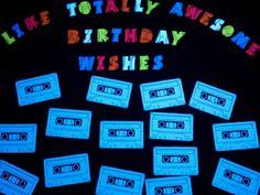 Black Light Birthday Message Board