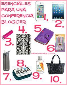 Esenciales para una Conferencia Blogger | Soy Mamá Blog. #MamásBlogueras #BloguerasMX