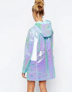 The Ragged Priest | The Ragged Priest Holographic Hooded Lightweight Anorak Festival Parka at ASOS