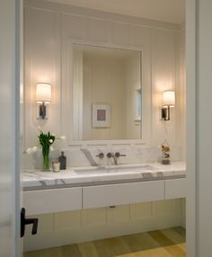 Ada Compliant Bathroom Vanity in Transitional with Bathroom and Wall Mounted Faucet
