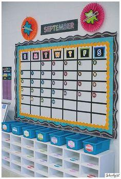 Schoolgirl Style Classroom Decor, Classroom themes, COLOR MY CLASSROOM, Rainbow, bulletin board, bright, chalkboard, classroom organization, flexible learning spaces, inspiration, kindergarten www.schoolgirlsty...