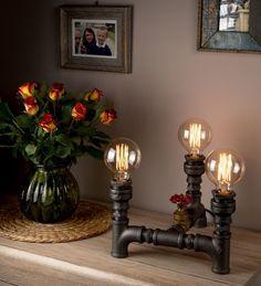 Handmade Steampunk Design Light Pipe Standard Lamps Vintage Lamps for the Modern Household