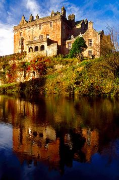 Located in Ayrshire, Scotland, Sorn Castle sits majestically on a cliff overlooking the River Ayr.