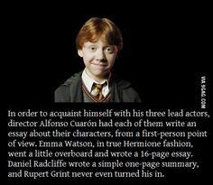 Rupert Grint being Ron Weasley