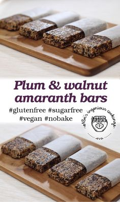 Nóri's ingenious cooking: Plum and walnut amaranth bars #eatclean
