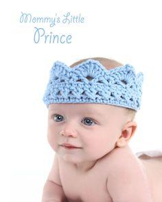 Newborn Boy Hats | Baby boy crown , blue baby hat, baby photography prop, newborn to ...