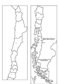MAPAS MUDOS GRATIS: MAPA MUDO DE REGIONES DE CHILE