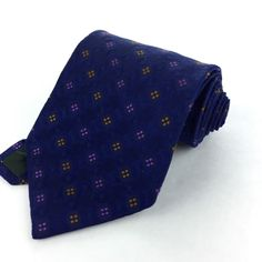XMI Platinum USA 58 Classic Wide Blue Orange Purple Dotted 100% Silk Neck Tie #XMI | Men's Fashion & Style | Shop Menswear, Men's Clothes, Men's Apparel & Accessories at designerclothingfans.com