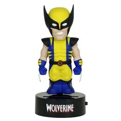 This is a Wolverine Marvel Body Knocker Figure from NECA. It's an officially licensed figure that dances! Solar powered and doesn't need any batteries. Super neat! Wolverine is roughly 6 inches tall.