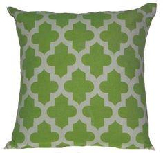 CLEARANCE SALE SALE  Lime Geen Moroccan ( Marrakesh Trellis Lattice )Decorative Pillow Cover. $5.00, via Etsy.