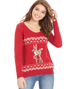 $40, More Infantile than Ugly. Jolt Moose Sweater #Dillards | Cute ...