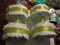 Finding My Way: how to: make a four wheeler diaper cake.
