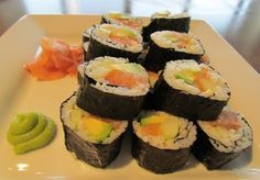spicy salmon sushi more spicy salmon asian style coleslaw asian dishes ...