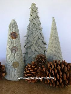 One More Time Events...: Sweater Christmas Trees