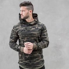 fb5928f56c287 Best Price 2017 spring new Mens Camouflage Hoodies Fashion leisure pullover  fitness Bodybuilding jacket Sweatshirts sportswear clothing