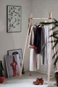 Med et lekent sinn: HOMEMADE CLOTHES RACK