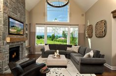 Living Room  Ideas With A Black Couch