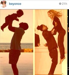 So cute!! Beyonce and jay z