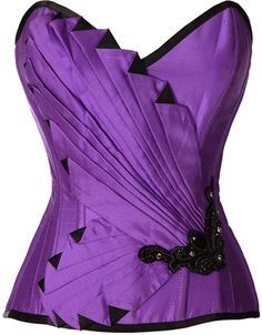 Fanning Gatsby Purple and Black Corset from The Violet Vixen