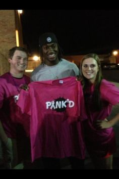 #Redskins RGIII supporting Pink'D at a local high school for Breast Cancer Awareness!