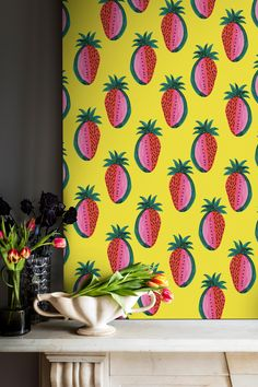 Watermelon Strawberry Canvas - Bouffants & broken Hearts Collection from £155 | Shop Canvases & bespoke Wall Murals at surfaceview.co.uk