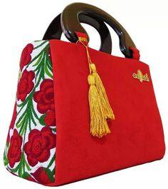 Bolsos Ana Duran kolor rojo