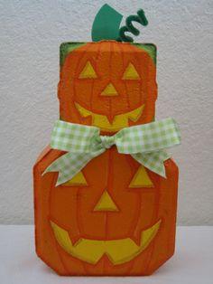 Outdoor Decor- Stacked Pumpkins Patio Person Halloween Garden Art Gift. $20.00, via Etsy.