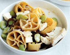 Wagon -Wheel Pasta & Goat Cheese         Wagon-Wheel Pasta & Goat Cheese Recipe  at Epicurious.com