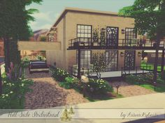Hill Side Industrial by ArwenKaboom at TSR via Sims 4 Updates