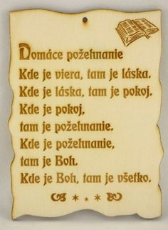 Citát na dreve: Domáce požehnanie... | 3,88 € - obrázok True Words, Motto, Humor, Education, Quotes, Bible, Quotations, Humour, Moon Moon