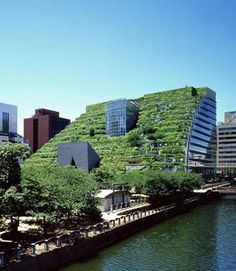 green building acros fukuoka green roof japan green building 500x575