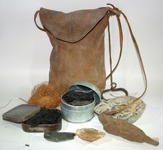 A Woodsrunner's Diary: Family Fire Bags/Tinder Pouches & Contents.