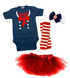 Nautical Darling Sailor Tutu Costume  could probably get a cute little hat to instead of a head band
