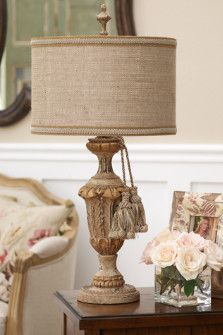 Beautiful Table Lamp, both whimsical and rustic.
