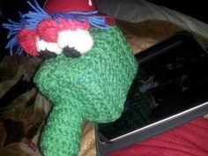 Philly Phanatic box tissue cover crochet by tjantnesh on Etsy, $30.00