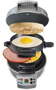 This breakfast sandwich maker will save me so much time in the morning, I might actually get in a decent breakfast. Plus it has a timer, so I don't have to babysit it  while it's cooking. #affilatelink
