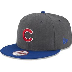 Chicago Cubs Heather Graphite 9FIFTY Snapback Cap by New Era 41ef44b21125