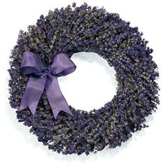 """Lavender is one of the most soothing fragrances in the world. The clean, fresh scent eases stress and tension, creating a very calming atmosphere.Our lavender gifts have always been extremely popular, for the long-lasting beauty and summery scent they bring to your home, and this dried wreath is no exception. It makes a wonderful holiday gift or addition to any room of your own home. Wreath Specifications:• Wreath is 12"""" diameter.• Dried Fragrant Lavender Wreath.• Decorated ..."""