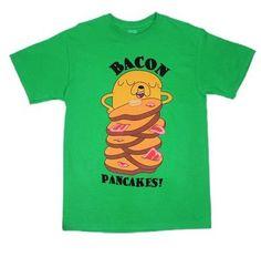 Adventure Time Jake Bacon Pancakes Cartoon T-Shirt  #AdventureTime