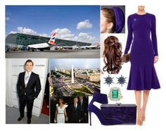"""""""Argentina Tour Day 1: Arriving in Buenos Aires and being greeted at the airport by the President and his wife"""" by pompcircumstance ❤ liked on Polyvore featuring Rachel Trevor-Morgan, Cushnie Et Ochs, Edie Parker, Arman Sarkisyan, BERRICLE, Chaumet and Gianvito Rossi"""