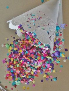 Mexican colorful Confetti 50 or 100 bags or cones, tissue paper party supply, Favor Party