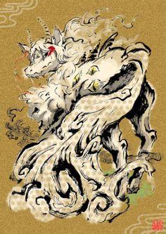 鬼灯の冷徹 Lion Sculpture, Fan Art, Statue, Anime, Monsters, Image, Cartoon Movies, Anime Music, Animation
