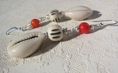 a messy wire wrap. red coral. bone rondelle. by lafemmeartiste, $20.00